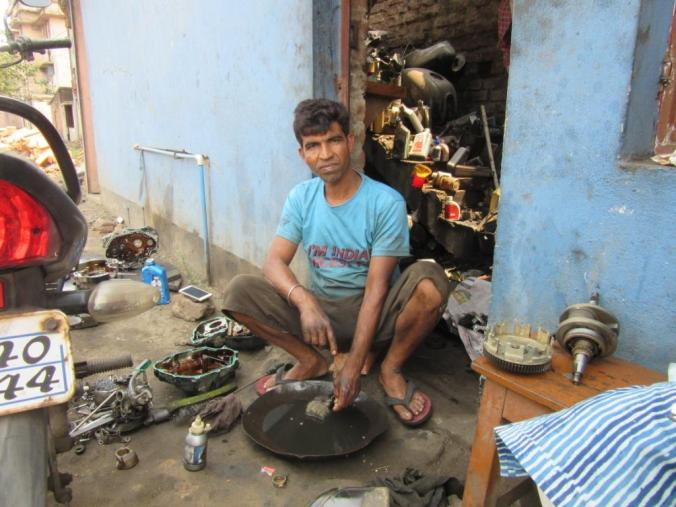Shanker Moi, who runs a small automobile workship, sees winds of change in his Bankura Lok Sabha constituency.JPG